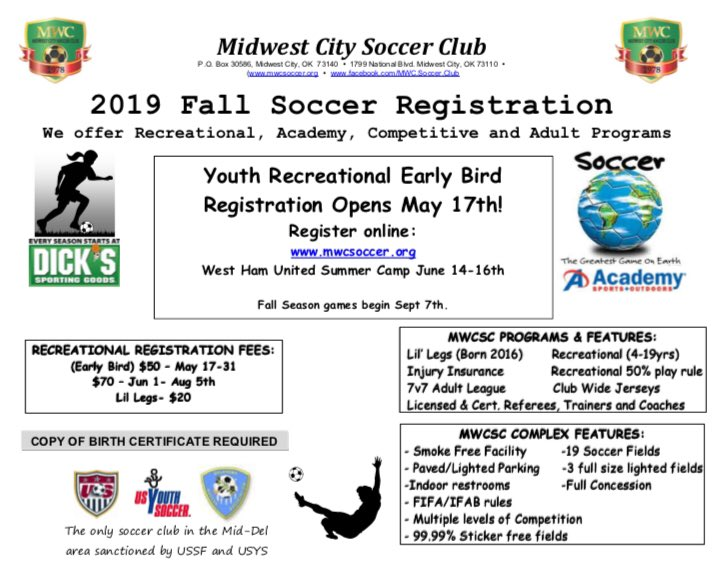 Midwest City Soccer Club (@mwc_soccer_club) | Twitter