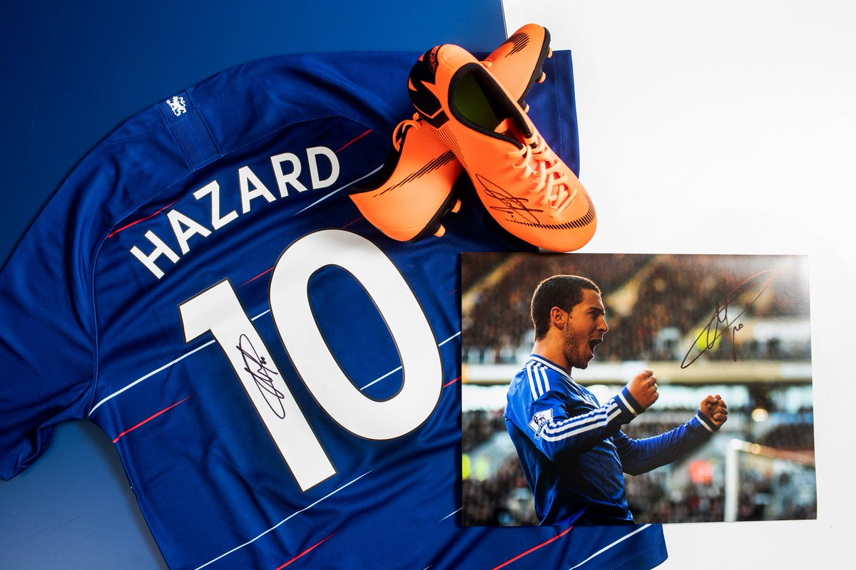 🔵 #Chelsea fans will be hoping tonights #UELFinal isnt the last time our friend Eden Hazard pulls on their blue shirt... Celebrate the brilliant Belgians #CFC career with 20% OFF all Hazard signed memorabilia on Icons.com! ➡️ icons.com/players/a-k/ed…