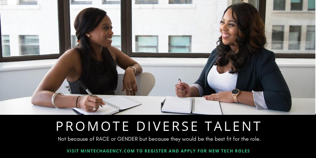 Promote people of diverse backgrounds. Promoting people of diverse backgrounds to positions of influence is just as important as hiring them.   What has been your experience with being promoted?  #blacktectwitter #latinxtechtwitter #techpromotions #itjobs #diversepromotionspic.twitter.com/31ELrgcGEm