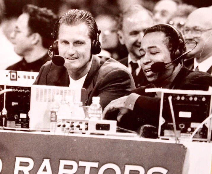On the eve of the @ESPNNBA Finals, remembering our guy John Saunders, proud Canadian and the 1st PXP voice of the @Raptors He'd a loved this series and the incredible fan support in Toronto. Miss you every day John 🇨🇦. @adnansvirk @JessePalmerTV @LeoRautins https://t.co/lAzGa87C6B