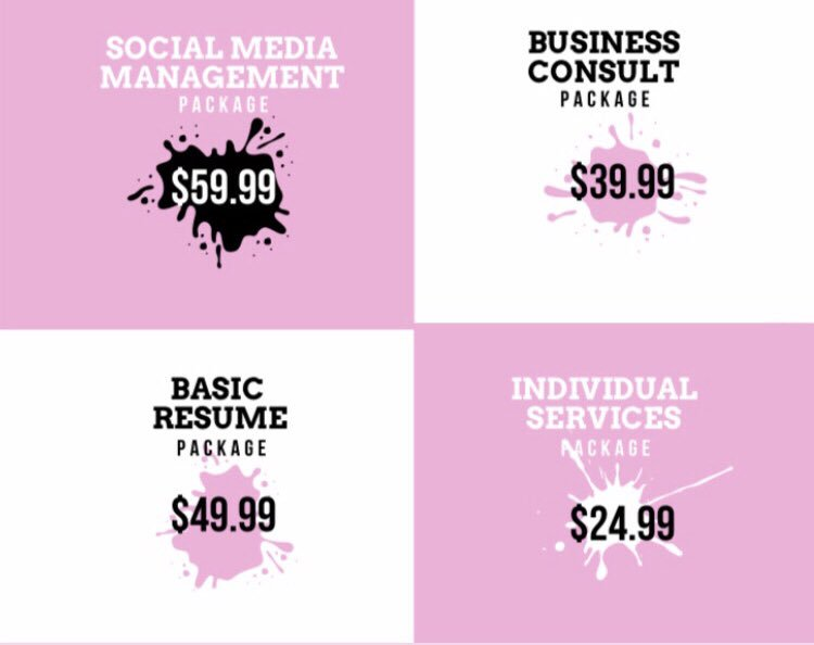 Our specials are still going on! Here are some of the services we provide, what they entail and their prices! Want to know more DM us or 📧 theholtworkspace@gmail.com What are you waiting for? Let's get to work! Also, remember you can DM us today to get a *FREE* consult! 💻✨