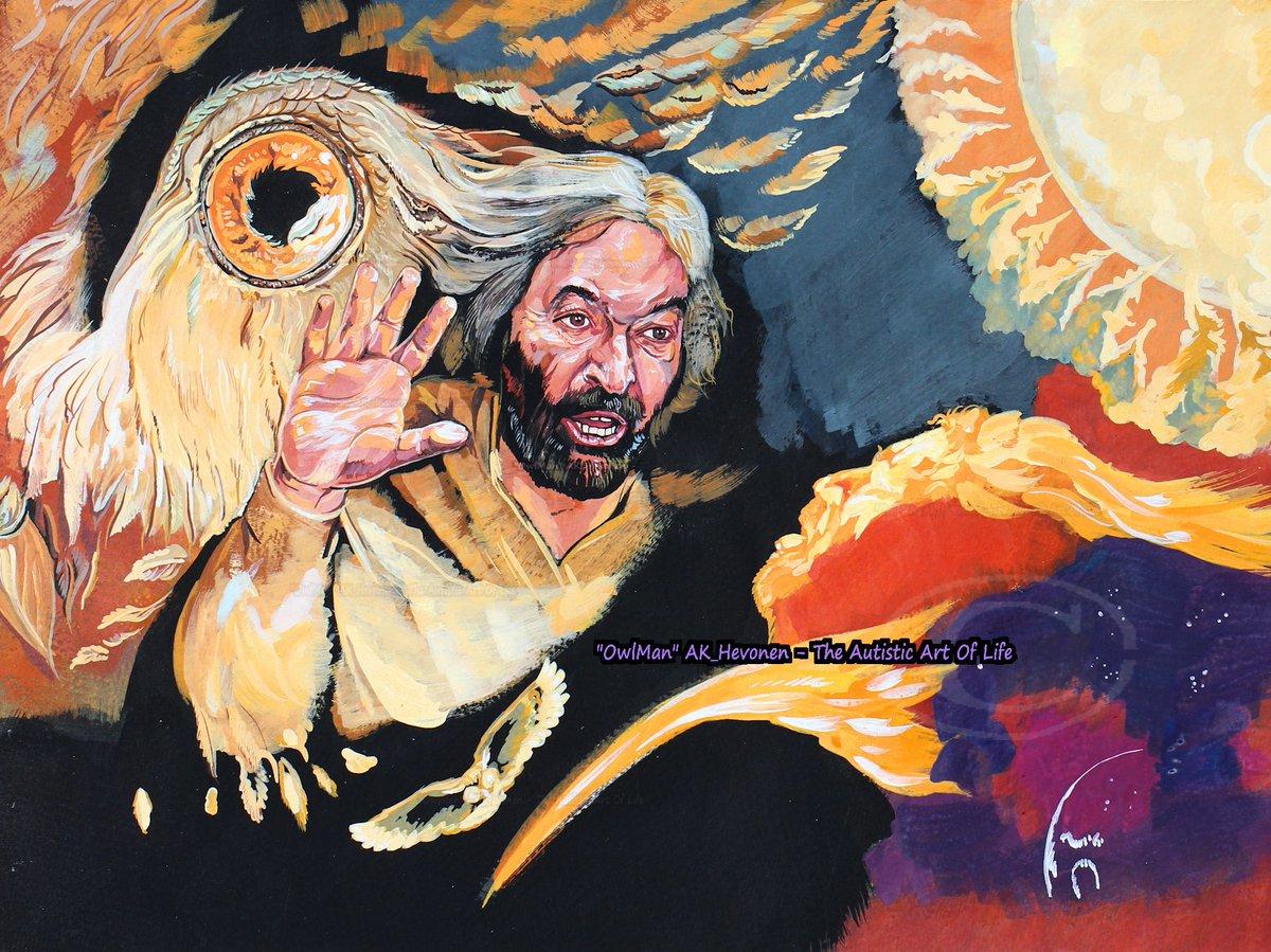 "#painting on @GERSTAECKER_DE classic, PelikanSchoolcolours. 4Mr @ianbeattie_ian #IanBeattie #GameOfTrones #GOTfinal #GameofThronesSeason8   Inspired by #TwinPeaks ""The Owls R Not What They Seem"".  #owls #Owl #owlseer #fanart #evening #ForestLive #autismawareness #Autism<br>http://pic.twitter.com/FoIc4C4iXU"