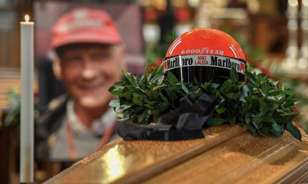 Niki was my hero when he was driving in @F1 . Today we said farewell to him and we will always remember him #F1 @MercedesAMGF1 #NikiLauda