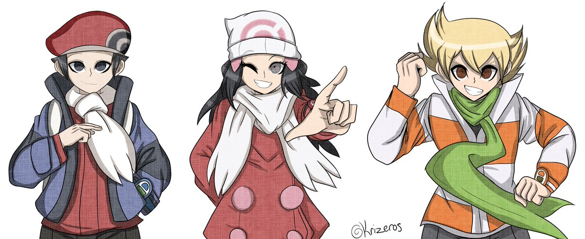 Krizeros Commissions Open On Twitter Lucahjin Is Lping Platinum My Favourite Pkmn Game Well Time To Draw Danganronpa Style I Was Planning On Drawing These Three In The Dr Sprite Style Danganronpa (manga) (adaptation) danganronpa another episode: krizeros commissions open on twitter
