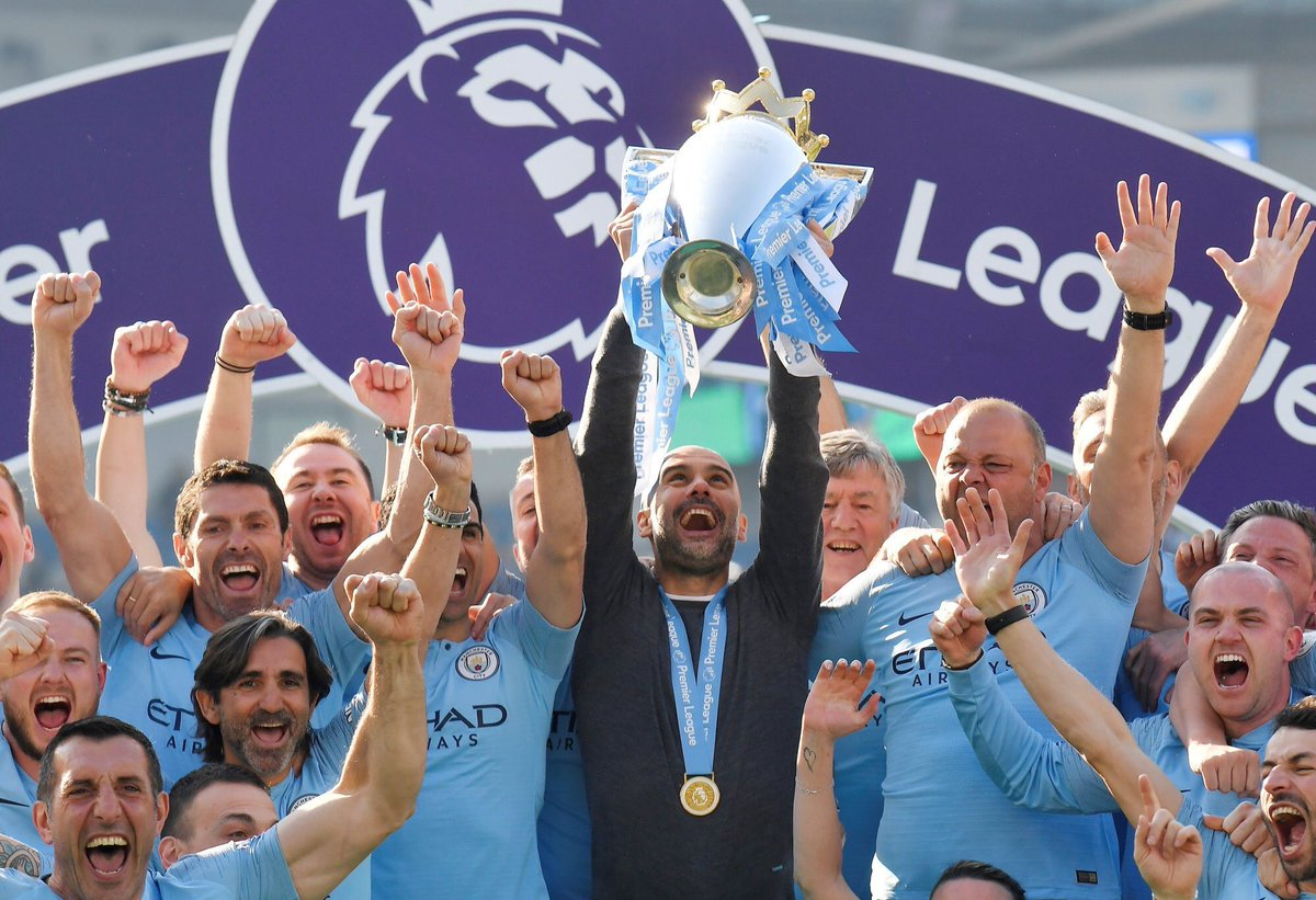 Don't let the Europa League final distract you from the fact that Guardiola's Man City overturned a 7 point deficit against the best Liverpool in recent times, won 14 consecutive games and completed the first Back-to-Back EPL titles in 10 years.
