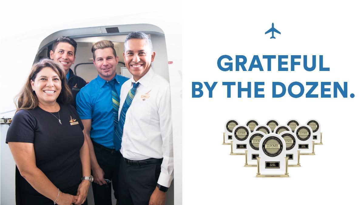 Congratulations @AlaskaAir on your 12th top @JDPower award! A perfect dozen. #JDP12 #iflyalaska