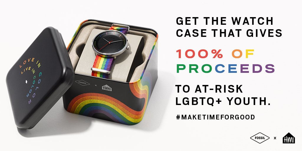 ea2327b3eca5 We re giving 100% of watch case proceeds from the new Love in Color watch  to  HetrickMartin in support of at-risk LGBTQ+ youth.