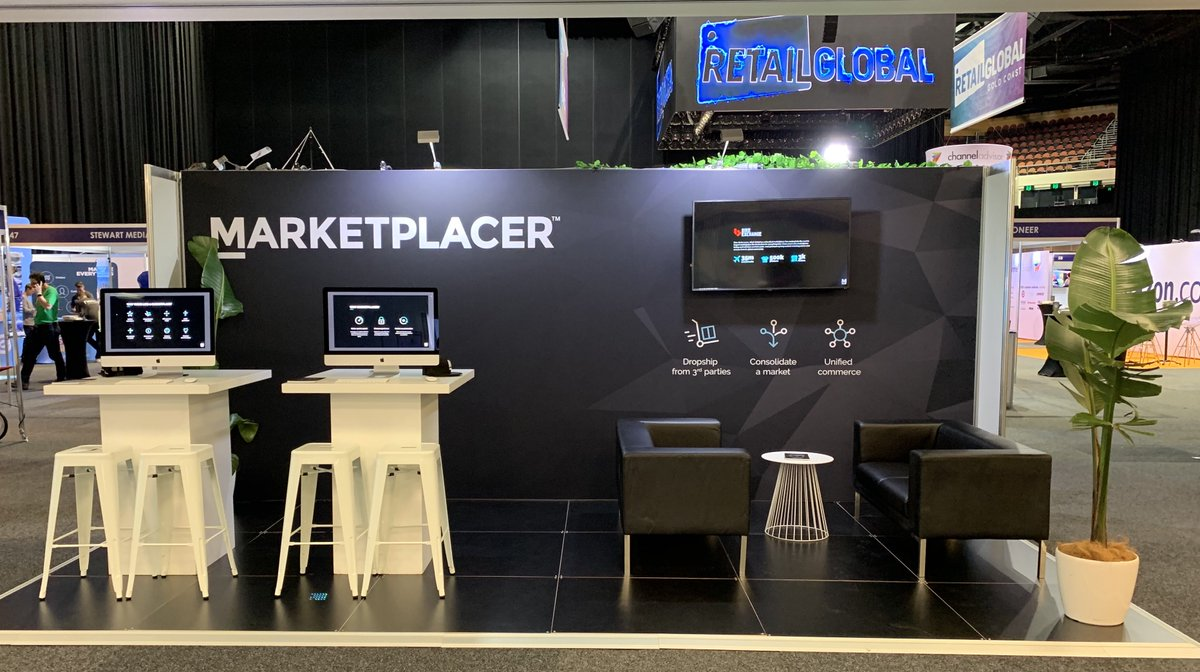 We're here at @RetailGlobalAU at the @GCCEC - come and chat to the team at stand 40 to find out why our clients like MYER, Jayco and Bob Jane TMarts  are launching marketplaces with us.  #marketplaces #unifiedcommerce #retailglobal #onlineretail https://t.co/JlxYoQcj4K