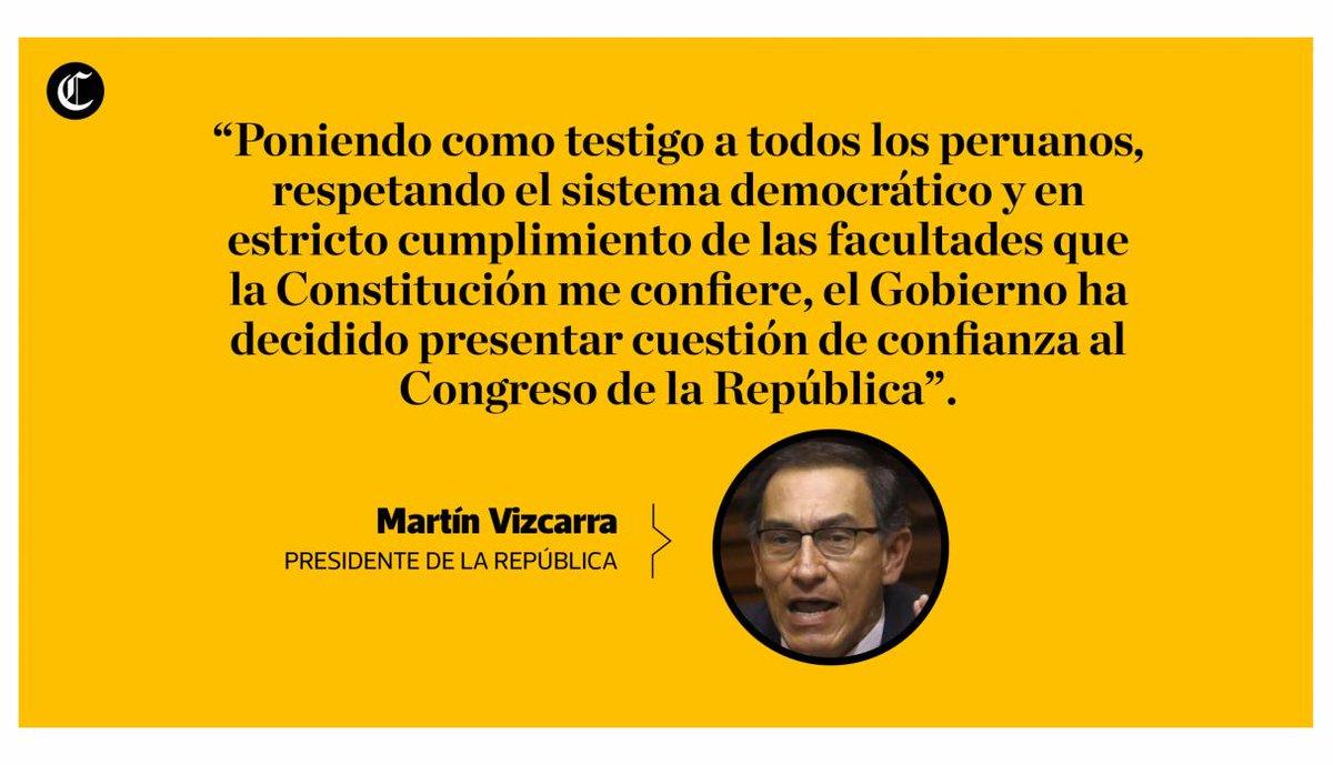 Política El Comercio On Twitter Martínvizcarra Las