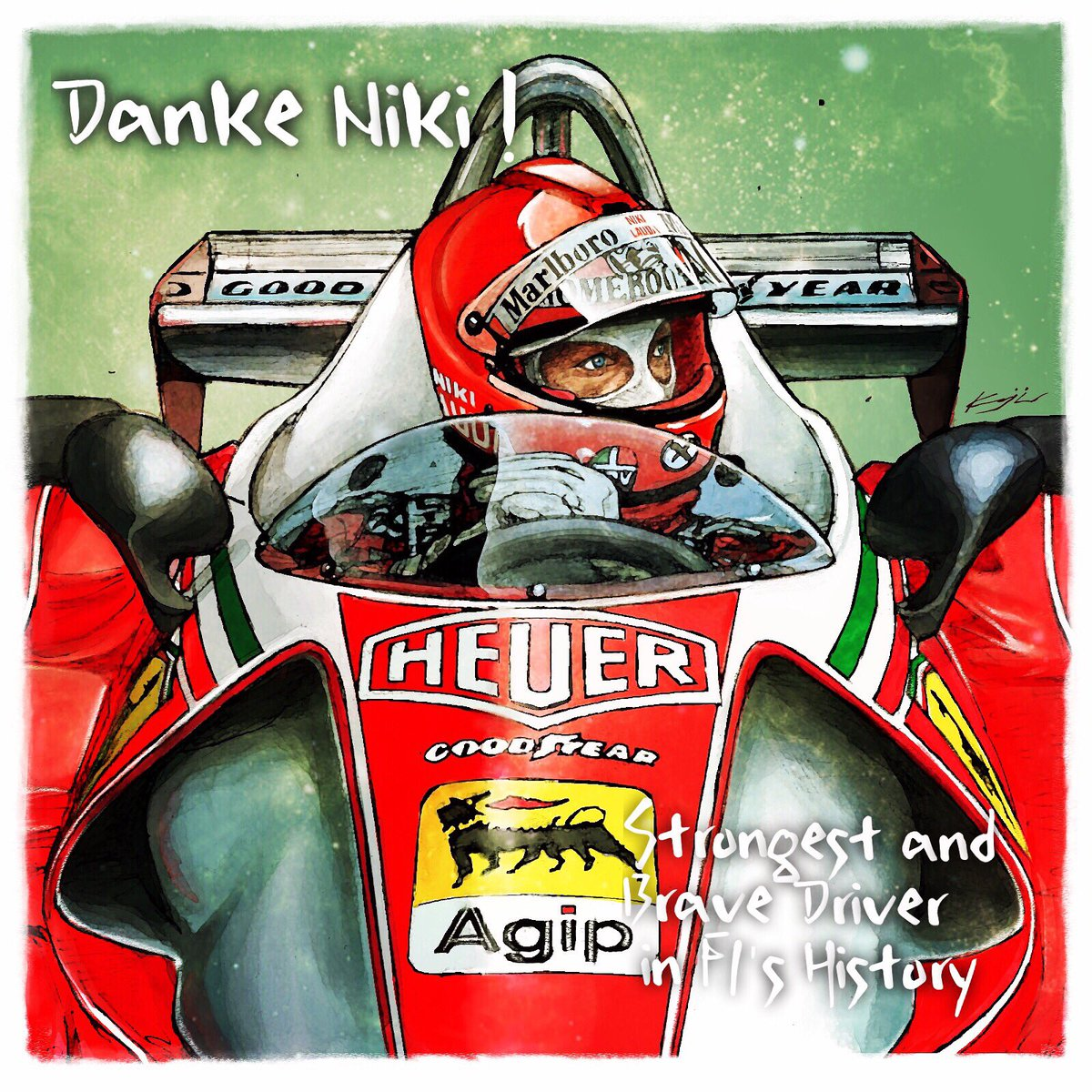(今日の1枚) Rest In Peace, Niki Lauda #DankeNiki #F1 ✨