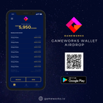 Image for the Tweet beginning: The Gameworks Mobile Wallet Airdrop