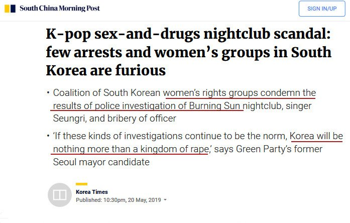 K-pop sex-and-drugs nightclub scandal: few arrests and women's groups in South Korea are furious https://www.scmp.com/lifestyle/entertainment/article/3010916/k-pop-sex-and-drugs-nightclub-scandal-few-arrests-and …  #kpop #BurningSun #scandal #CoverUp #policecorruption #Korea