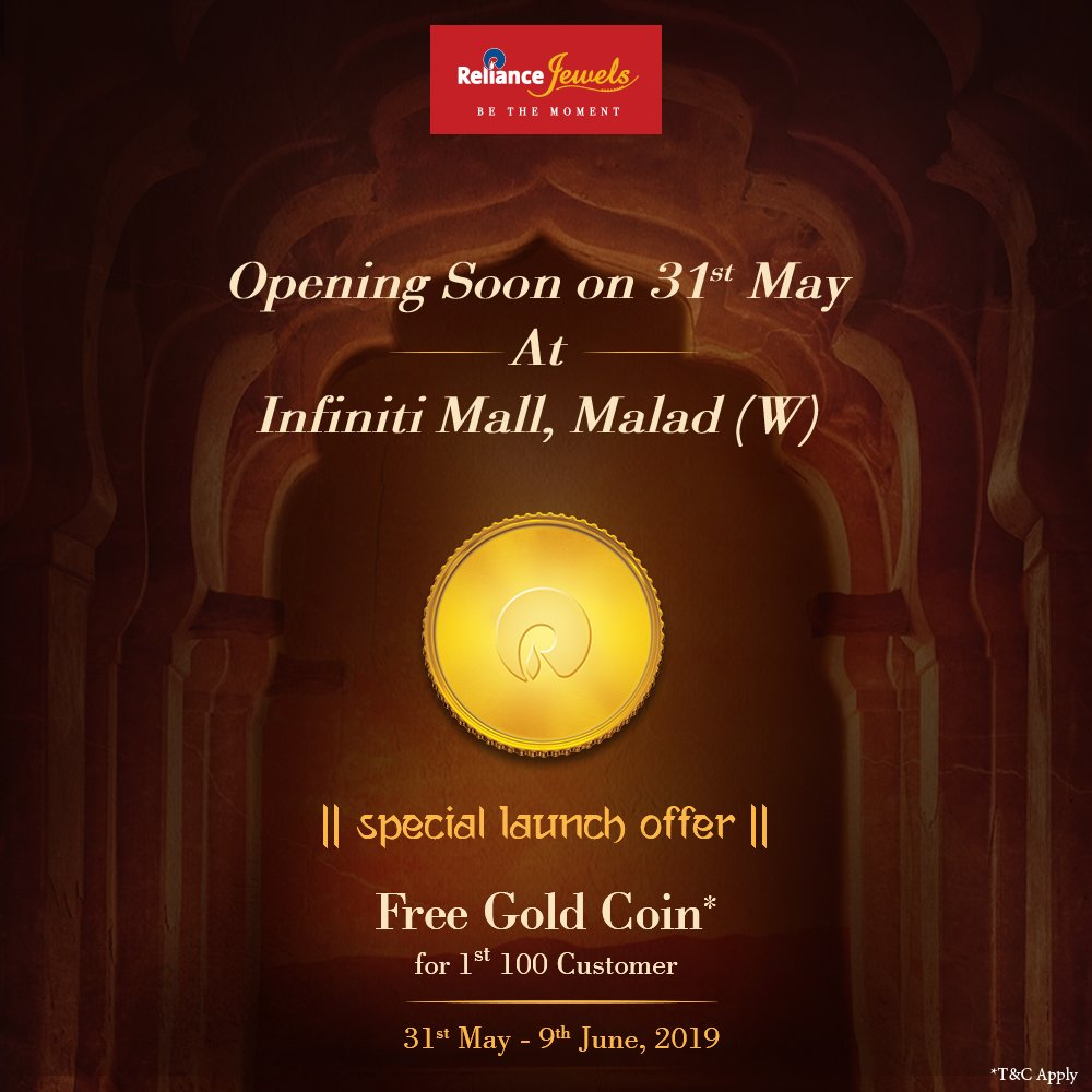 fd34a7c3 Visit, shop & avail our amazing launch offers at Infiniti Mall, Malad, on  31st May - 9th June, 2019. #RelianceJewels #ComingSoon #Launch  #InfinitiMall ...