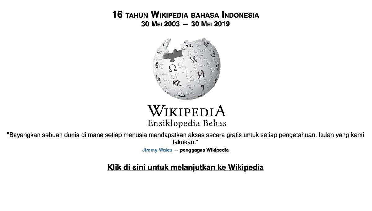 Ο χρήστης Wikipedia bahasa Indonesia στο Twitter