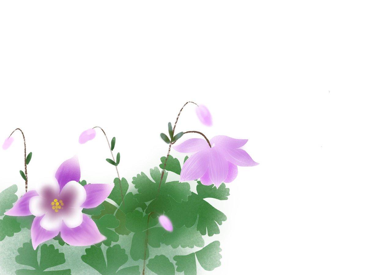 Twitter पर 愛ちん ゆめみ愛 イラストacさん投稿の5月30日の誕生花 苧環 オダマキ です 無料なので良かったらどうぞです T Co Ylut4tnqci 静御前が 恋人源義経を想いうたった歌が有名です しづやしづ しづのをだまき 繰り返し 昔を