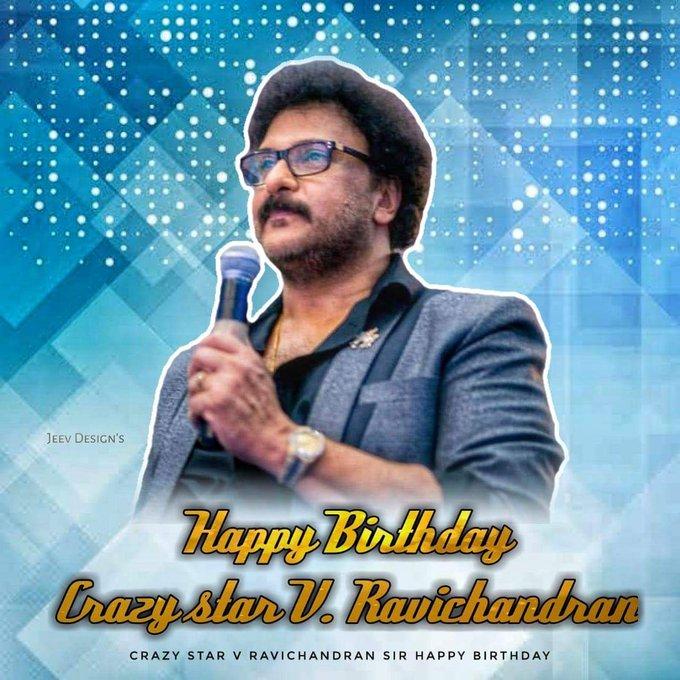 Happy birthday crazy star V.Ravichandran sir..
