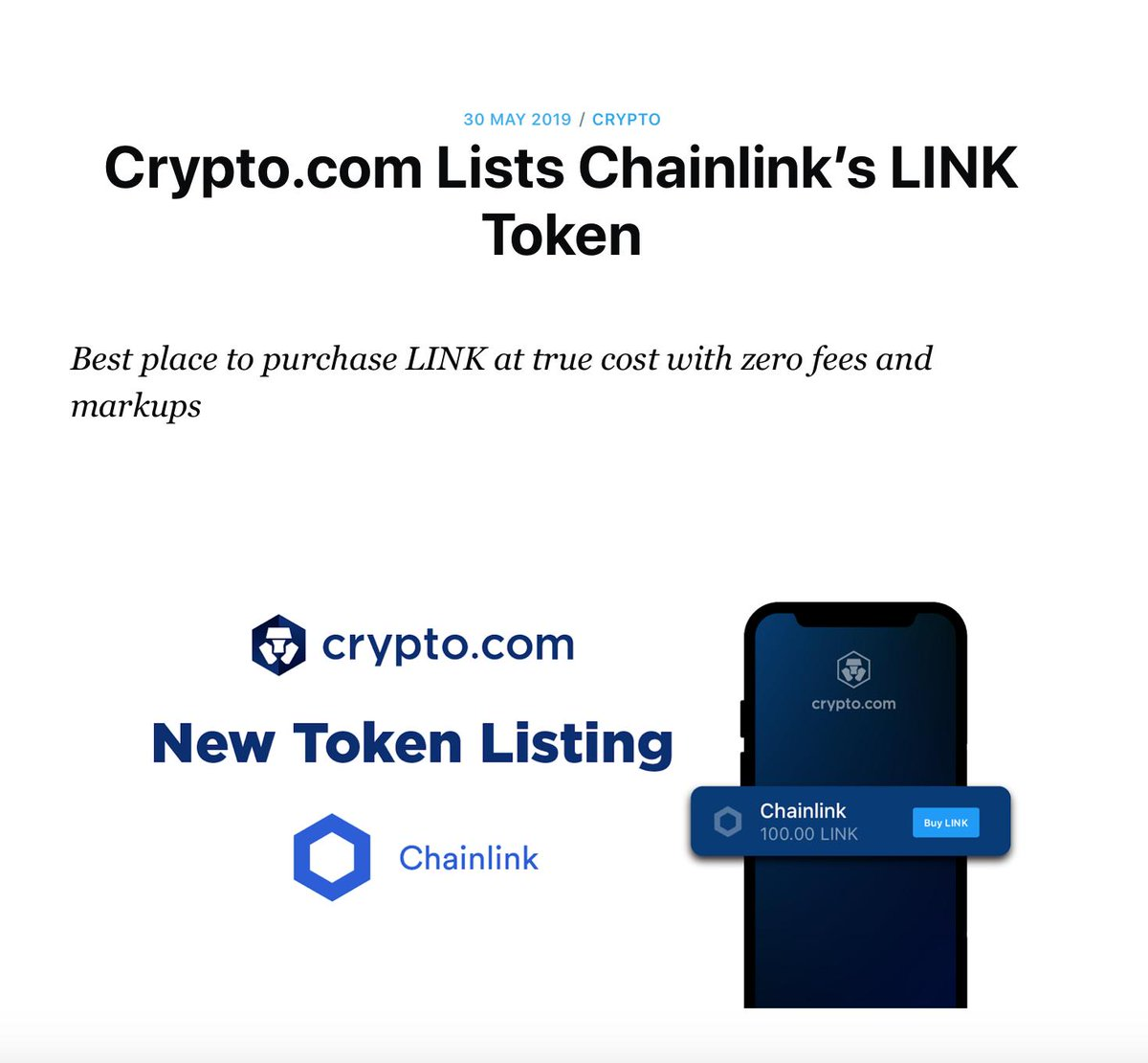 buy cryptocurrency link