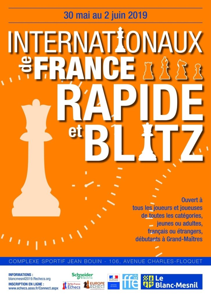 En direct et réalisé par DiagonaleTV pendant 4 jours, les internationaux de France Rapide et Blitz #LeBlancMesnil 2019 ! http://www.diagonaletv.com/2019/05/30/internationaux-de-france-rapide-blitz-le-blanc-mesnil-2019/… #échecs #chess #ajedrez #schach #escacs