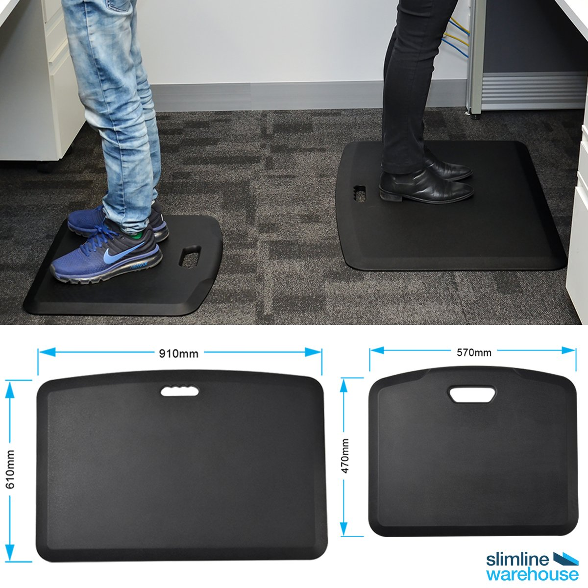 Standing during longs periods of time at work can cause aching feet, these office mats are a great way of offering cushioned support that reduces strain on the calves, feet, and knees. 👣  Shop via link: https://t.co/yrf6oNWb76 https://t.co/PSisp71Au6