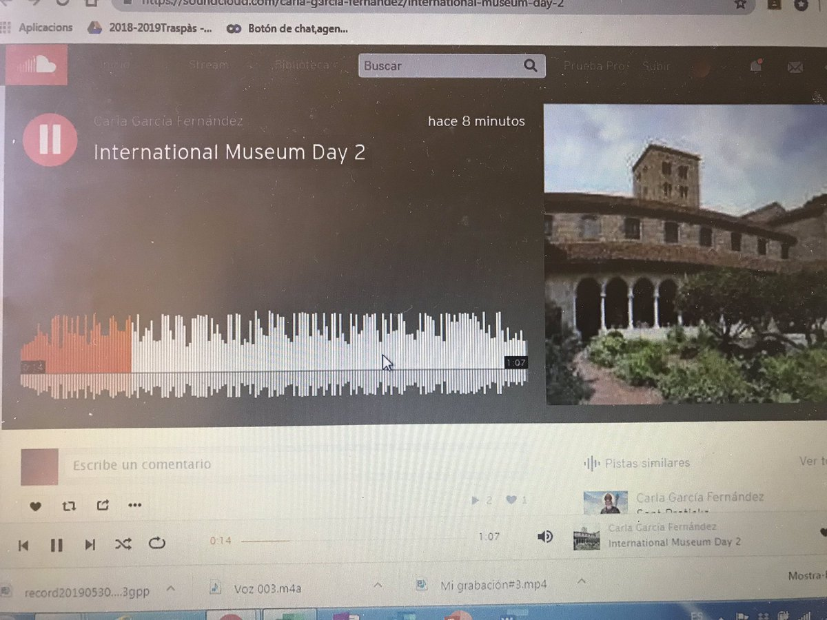 #InternationalMuseumDay project in @Torredelpalau We discover important museums in the US. We record info about them, upload it in @SoundCloud and right into our @Blogger