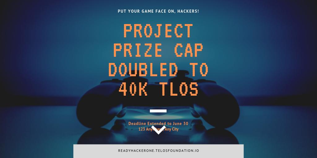 Did you know that the ultimate #EOSIO game creator challenge has had its prize cap doubled!!! Entries finish June 30!  Check out #readyhackerone!  https://eosworldexpo.com/readyhackerone
