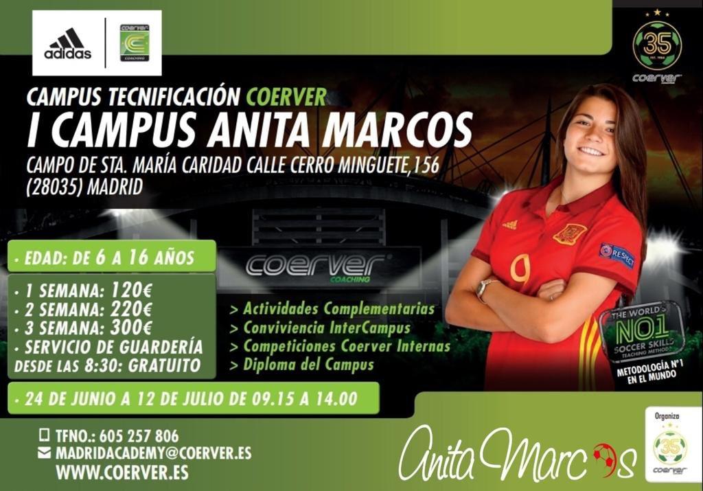 RECORDAMOS🚨!! El I Campus ⚽️Anita Marcos @anitamarcos09 está cerca de comenzar 🔜, no te quedes sin tu plaza🏃🏻♀️🏃🏻♂️!! Diversión y aprendizaje 🔝 asegurados!! #orgullonaranja