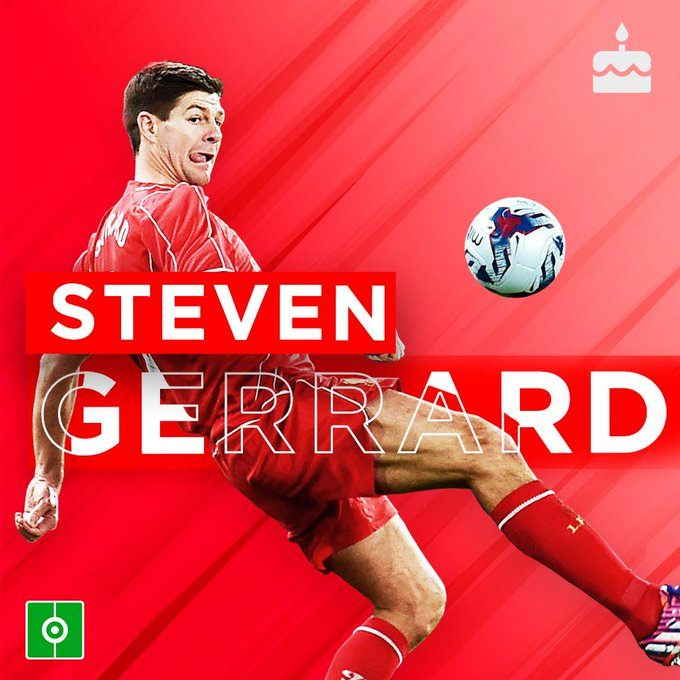 Happy Birthday to the Liverpool legend, Steven Gerrard !