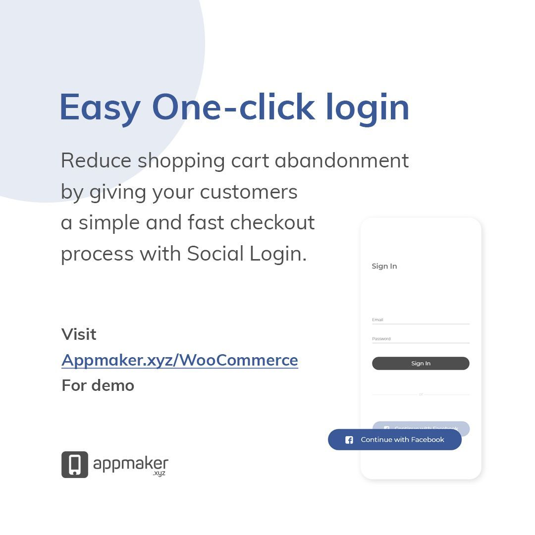 Make Checkouts and Logins faster by integrating Social logins in the app. And with every #WooCommerceApp we provide, this is inbuilt. Transform to #Mcommerce and embark on an incredible journey with #Appmakerxyz. Get in touch with us!  #SocialLogin #Checkout #OnlineSale #App<br>http://pic.twitter.com/OKGlbR97g7