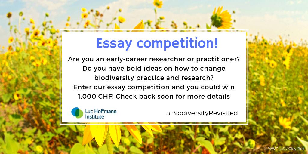 luc hoffmann institute on twitter calling all early career folk  want to share with us your critique on whats gone wrong with biodiversity  to date were shortly launching an essay competition watch this space analytical essay thesis example also a level english essay structure write my essay paper