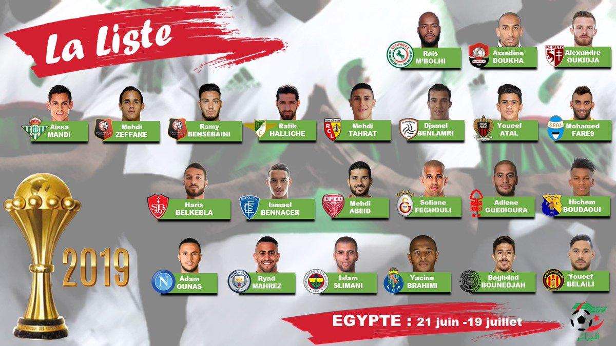 Liste Algérie