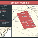 Image for the Tweet beginning: Tornado Warning continues for Glassboro