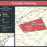 Image for the Tweet beginning: Tornado Warning continues for Lindenwold