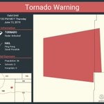 Image for the Tweet beginning: Tornado Warning including Harding County,