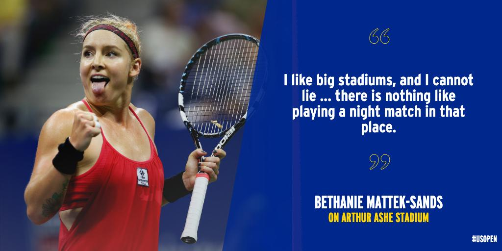 Arthur Ashe Stadium is unmatched. Bethanie Mattek-Sands and Shelby Rogers describe their experiences (h/t @Forbes)