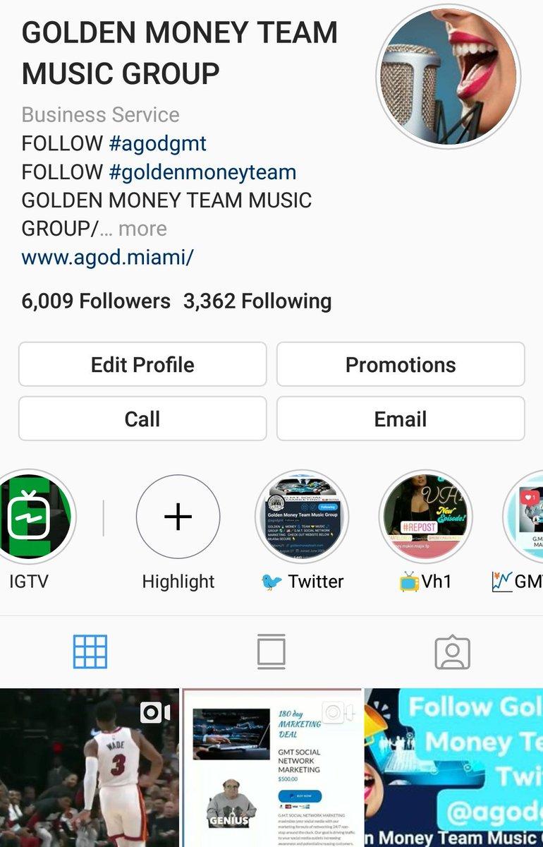📷INSTAGRAM📷 🚨ALERT🚨 GOLDEN 🏅 MONEY 💲 TEAM 🤝 MUSIC 🎵 GROUP 🌎 @agodgmt  on #Instagram share #page share #Post view #pictures . . . #100DaysOfCode #trapmusic 📷 #music #fintech #soulmusic #node #hiphop #musicblog #DameTime ⏬📷 INSTAGRAM 📷 LINK ⏬ http://www.instagram.com/agodgmt