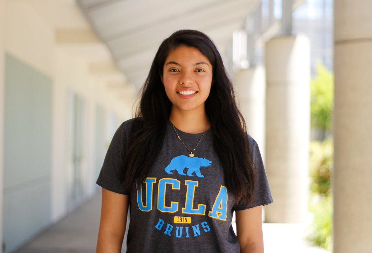 """Congrats to SMC student Adriana Jaramillo Castillo on transferring to .@UCLA as a psychology major! 💙 #ProudToBeSMC #UCLAbound #BruinTransfers """"Taking advantage of the programs and resources available at SMC helped me get to UCLA, the counselors and professors really pushed me."""""""