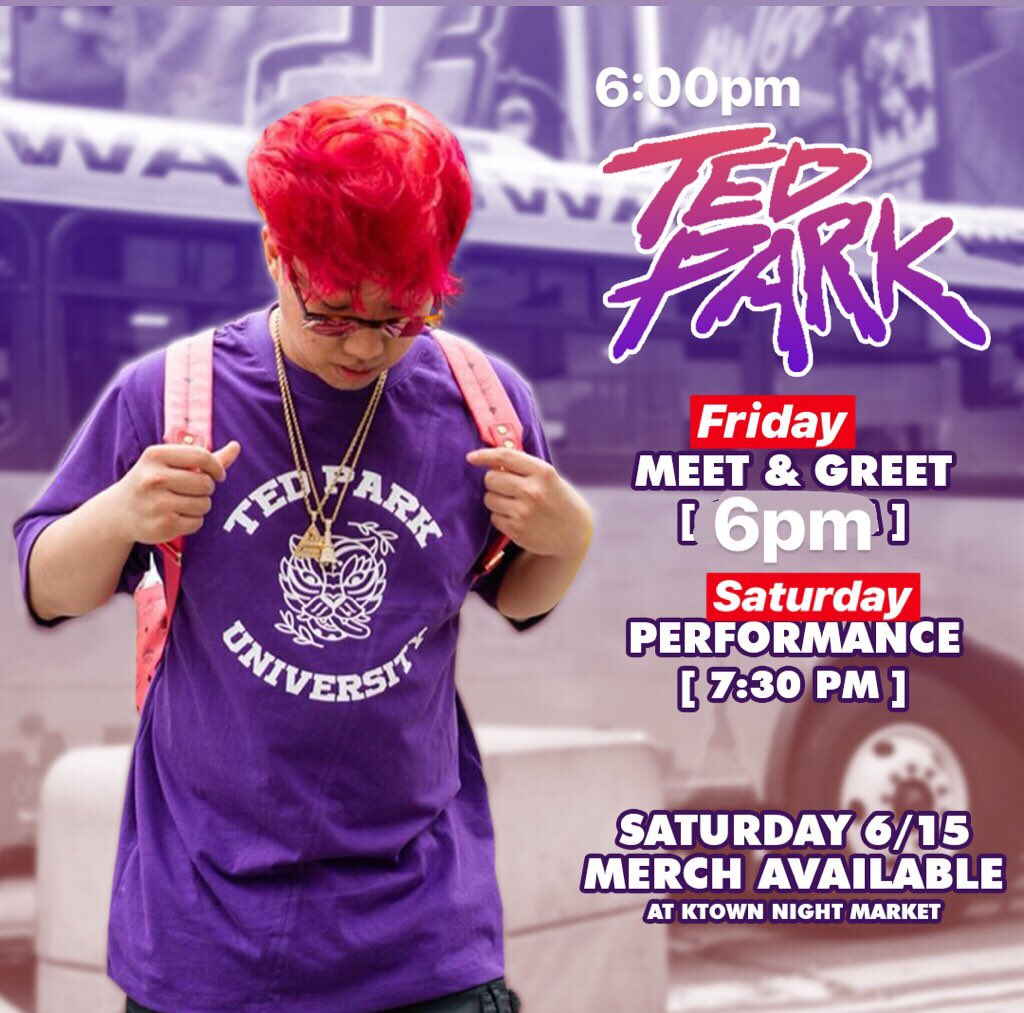 UPDATE: MEET & GREET FRIDAY 6PM, Performance Saturday 7:30pm. Meet me there @ktownnightmarket  <br>http://pic.twitter.com/Wr9sFIHoUj