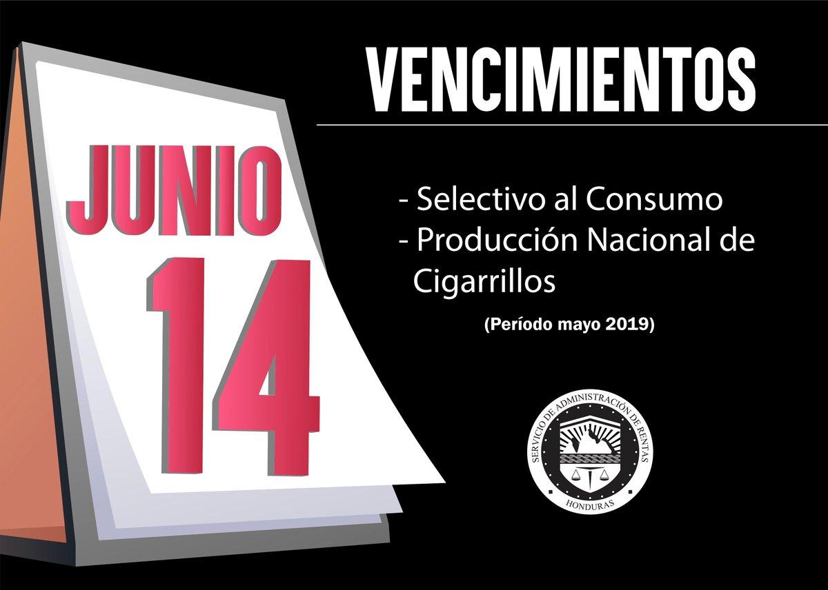 Calendario Fiscal 2019 Honduras.Sar On Twitter Conoce Los Vencimientos Del Calendario