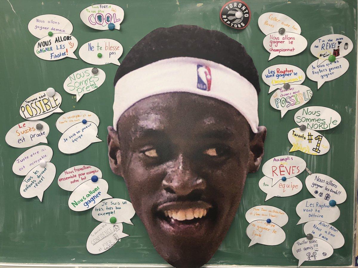 WHAT WOULD SIAKAM SAY; my FSL students created some inspirational quotes for our francophone Raptor @pskills43! // Dans la tête de Siakam;  Mes étudiants de FLS ont inscrits des citations en s'inspirant de l'athlète francophone des Raptors #WeTheNorth<br>http://pic.twitter.com/bfhzew3EHx