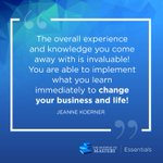 The Pathway to Mastery—Essentials is transforming businesses in just 8 short weeks! This in-depth training course will enhance your skills and outline immediate action steps to elevate your success. https://t.co/PobWCZt9xS #trainingthursday #testimonial #PathwaytoMastery