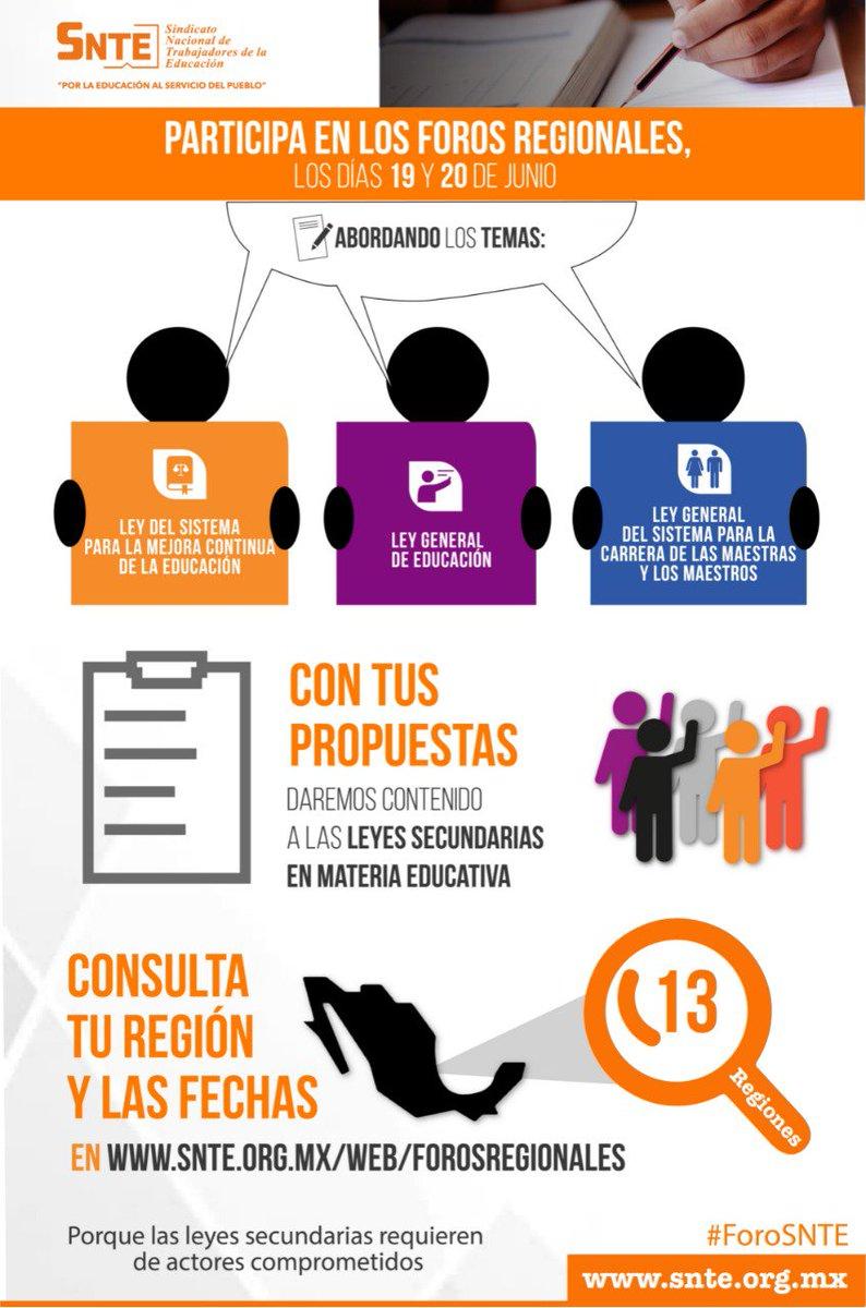 🗣️#ForoSNTE 📜 ‼️Todos a PARTICIPAR‼️ Consulta Participativa sobre Leyes Secundarias en Materia Educativa 📚 ✅Fecha límite de propuestas 👉16 de junio 🗓️ ✅Realización de Foros 👉19-20 de junio 🗓️ #FelizMiércoles México #BuenMiércoles CDMX #HBD_BTS #CNE32019 #ahorasomosbbva