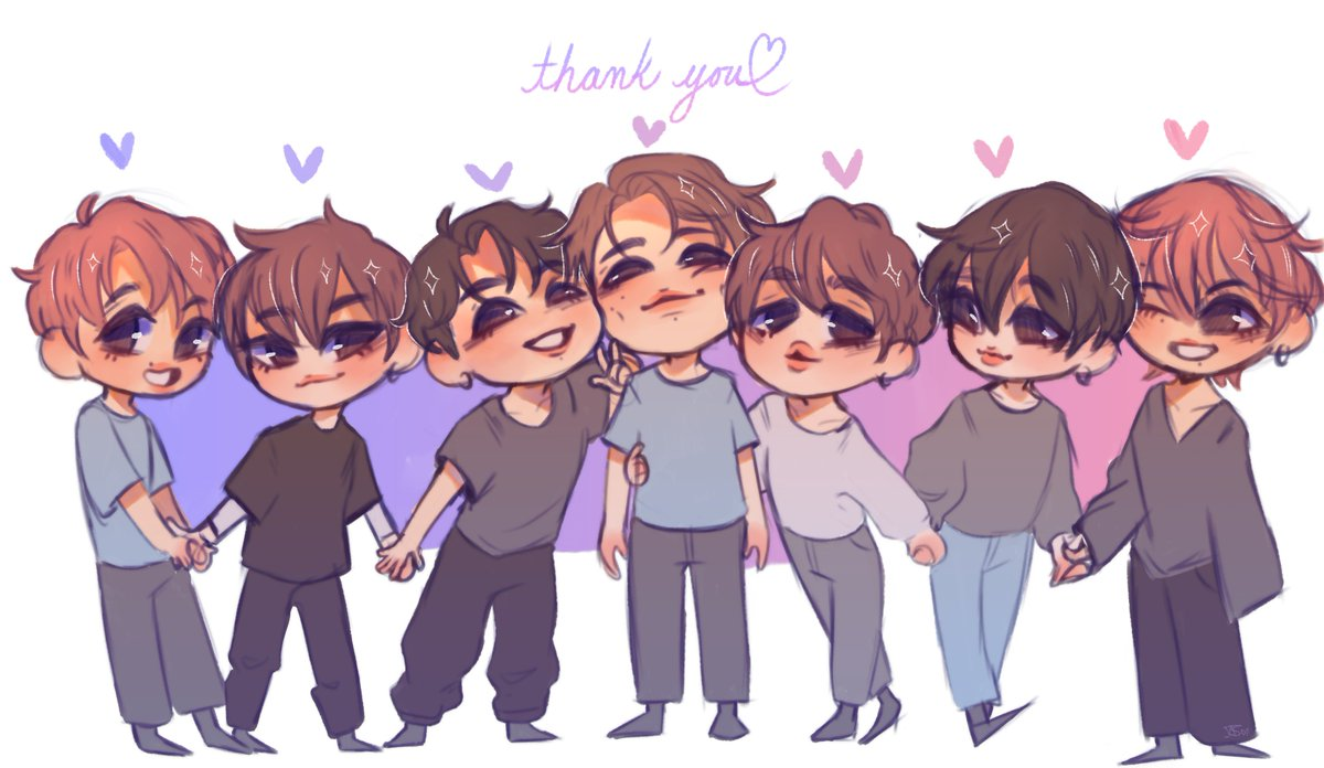 Thank you for 6 beautiful years you 7 beautiful boys  [#bts #btsfanart #BTS6thAnniversary] <br>http://pic.twitter.com/QgQ69EPcRJ