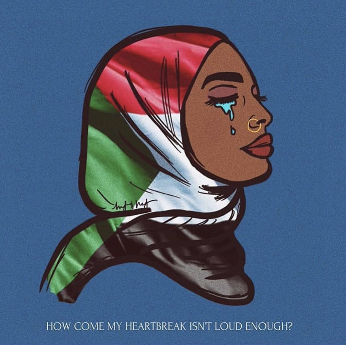 This needs to stop. Those inhuman piece of shit NEEDS TO BE STOPPED !! This is horrendous !! let's spread to the world what is happening in Sudan and pray for them !! PLEASE !! #BlueWithSudan #PrayForSudan <br>http://pic.twitter.com/tIhIXZC4JL