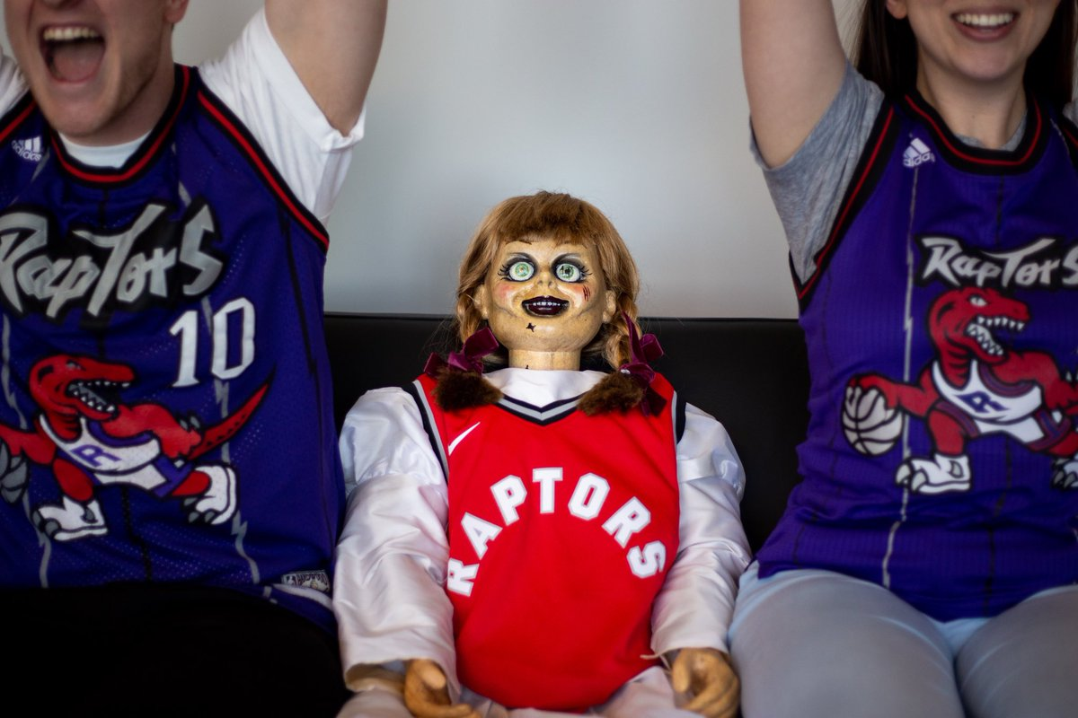 Do you think the Raptors are going to take the W tonight? Annabelle does #HavocTourCanada #AnnabelleComesHome is in theatres June 26!