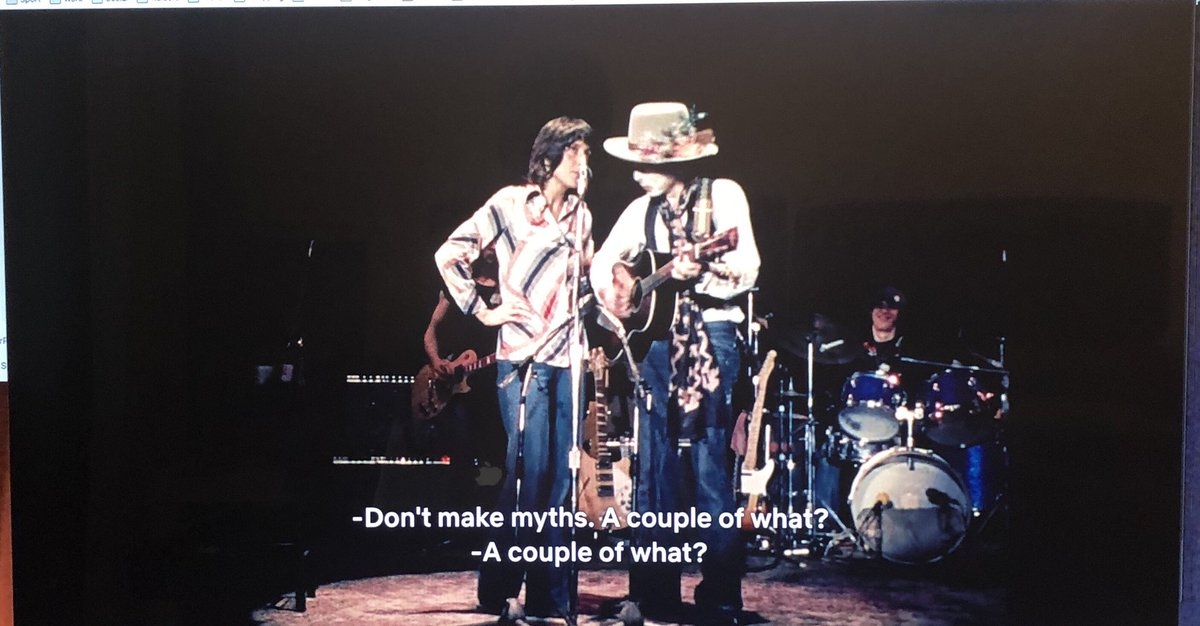 #BobDylan #RollingThunder  The second time around certain lines and scenes jump out at you!<br>http://pic.twitter.com/rRfnrYDIyq
