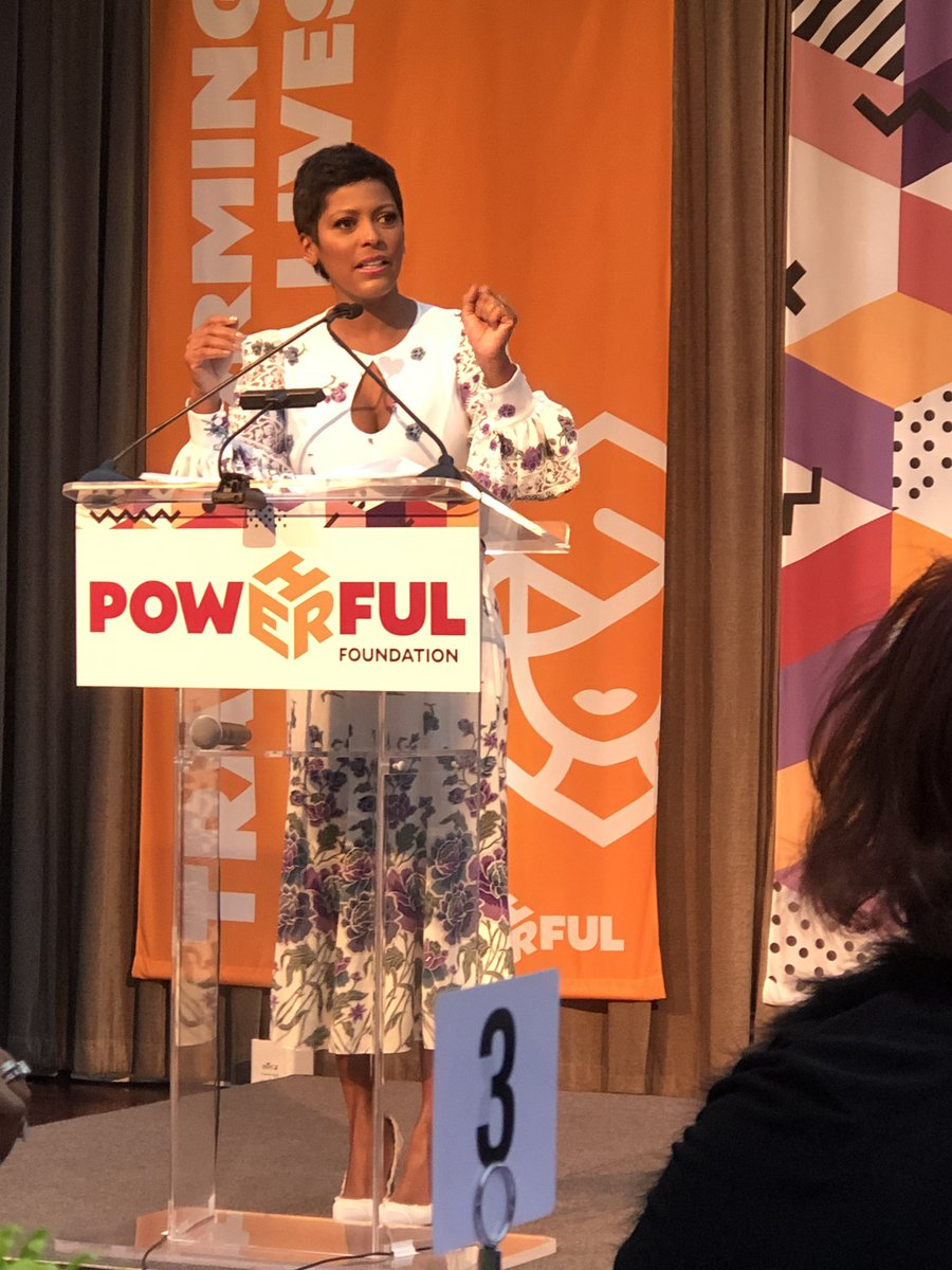 The beautiful @tamronhall hosting our @PowHERfulFdn gala. And um, she just had a baby 7 weeks ago!