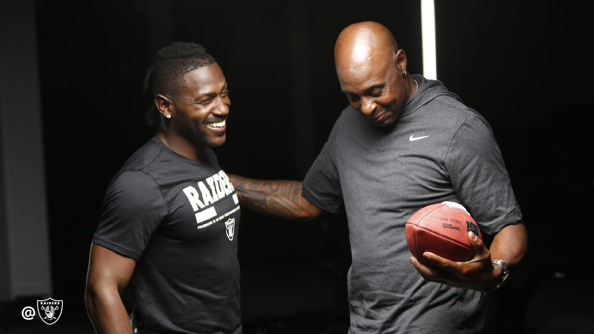 Just two guys very, very good at catching footballs.  @AB84 X @JerryRice | #RaiderNation <br>http://pic.twitter.com/ybTY9oZVKh