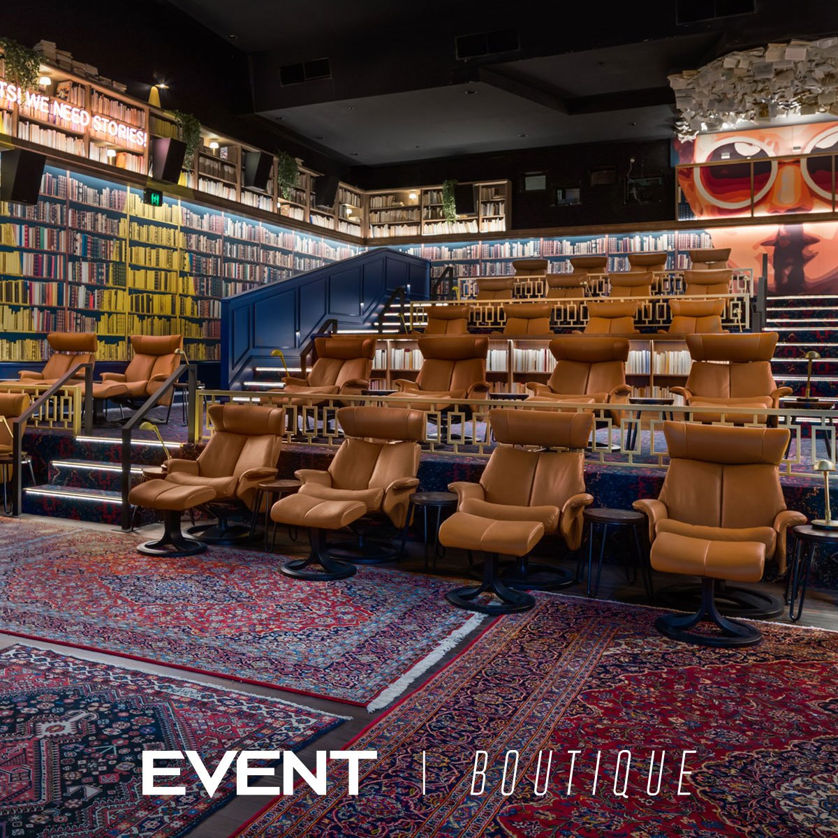 Introducing #EventBoutique at #EventCinemas George St, Sydney. An intimate cinema with a boutique vibe. Designer boutique recliners with footrest, service at your seat and the best cinema sound and picture. Buy tickets now: http://bit.ly/BoutiqueEventCinemas…