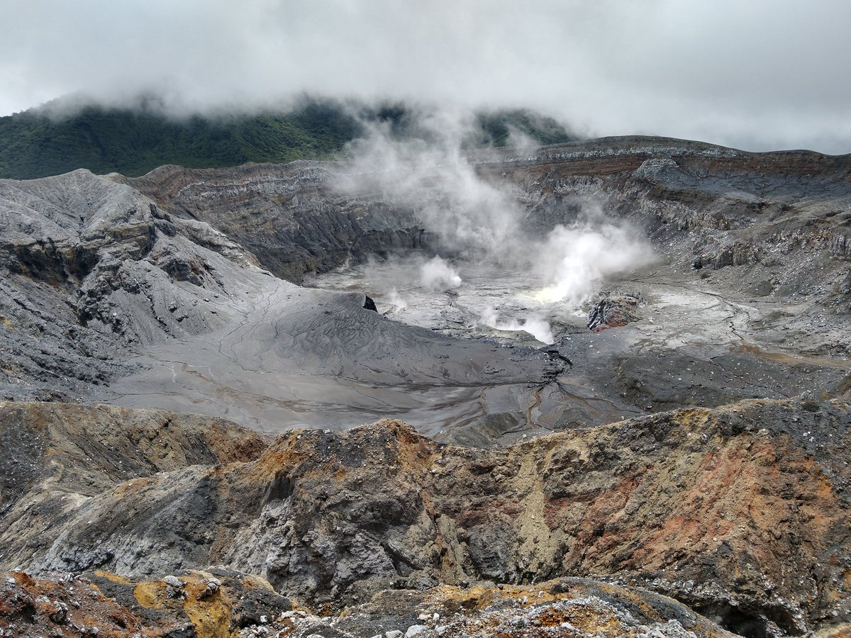 Much more dry, lots of gas, no lake and more fumaroles. Witnessed few phreatic eruptions while we were down there...