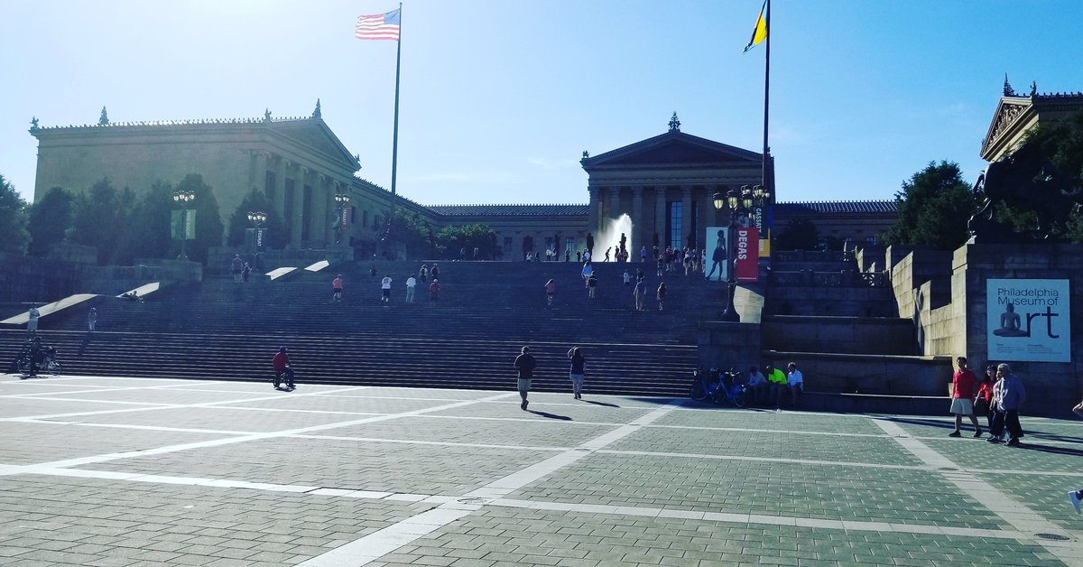 Our @BrightsparkTour group has arrived in #philly and they're exercising those lunch calories off at the #rockysteps. #philadelphiamuseumofart #philadelphia #rocky #creed #potomactours #8thgradetrip #seetheusa #studenttours<br>http://pic.twitter.com/TPk1deaVxg
